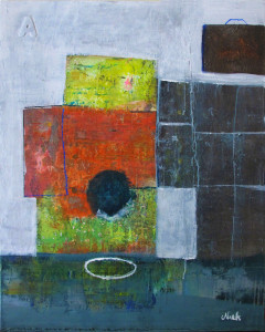 THE PLATE.Mixed media on canvas.100x80cm.
