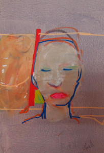 SERIE SPACEBOOK.Mixed media on paper 30x40cm.